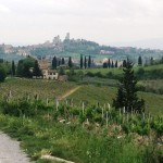 Approaching San Gimignano
